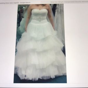 OLEG CASSINI WEDDING PROM DRESS SIZE 16